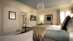 Window seats seating areas and ceilings on pinterest for Jeff lewis bedroom designs