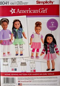 18 inch Dolll Clothes Pattern American Girls Doll by blue510