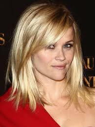 Reese side bangs medium length hair