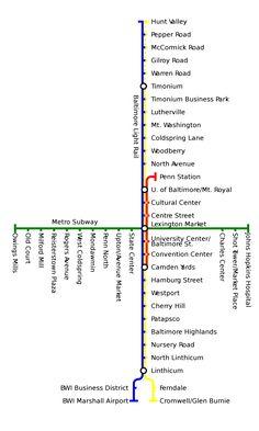Le #métro #Subway est le système de Transist rapide qui sert la ville de #Baltimore, la plus grande dans Maryland, USA. Le transport en commun est principalement traité par le MTA Maryland et Charm City Circulator.