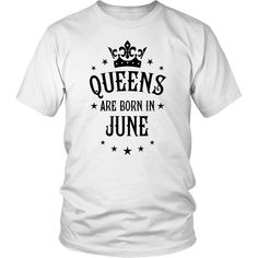 Queens Are Born In April Birthday T-Shirt for Black Women Born In April, July Born, June, October Birthday, Black Women, Queens, T Shirts For Women, Crown, Mens Tops
