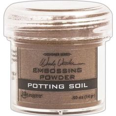 Ranger - Wendy Vecchi Embossing Powder .63oz - Potting Soil