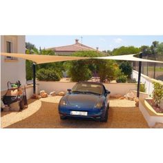 Carport Shade Spain, park your car in the shade with a Shade Sail in Spain from Coolashade. Carport Shade, Pergola Shade, Wooden Pergola, Diy Pergola, Pergola Ideas, Sun Sail Shade, Shade Sails, Sun Sails, Carport Designs