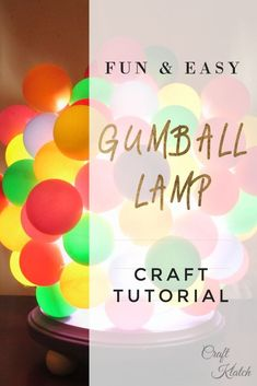 Learn how to make fun, easy and inexpensive dorm room decor with this colorful lamp that looks like a bunch of gum balls! Be sure to watch the video, so you can see exactly how I made it! I found this globe/light cover at the thrift store for $0.99.I actuallybought three, so this is the first project with them. I also had this simple wood plaque and plan on using it as the base. Originally, I was going to paint pingpong balls, but when I found these beautifull…