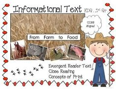Reading for information, exploring concepts of print, and engaging emergent readers/writers . Includes: READY TO USE TOMORROW (29 pages) PRINTABLEPerfect for kindergarten reading lesson, literacy centers, ELs, emergent readers in first grade*a printable informational book with colorful photos for emergent readers with enlarged text for print to speech match*Writing page for interviewing peers, includes scaffolds - develop...