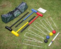 This croquet set is the ideal size for children.  http://www.worldstores.co.uk/p/Garden_Games_Lawn_Croquet_Set.htm