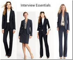 Interview Clothes What should women wear to an interview? Click on the picture to find out!