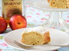 Vegan Peach and Amaretto Cake