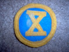 World War I WWI US Army  10th Infantry Division Patch