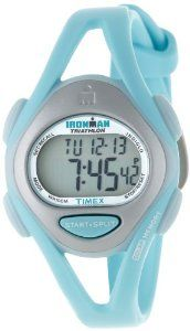 Timex Women's T5K7019J Ironman Sleek 50-Lap Pastels Mid-Size Mint Resin Strap Watch Timex. $47.96. 100-hour chronograph with lap and split times, 99-lap counter. 24-hour countdown timer with stop and repeat. Indiglo night-light. Water-resistant to 330 feet (100 M). 50-lap memory recall for effortless review after workout. Save 20% Off!