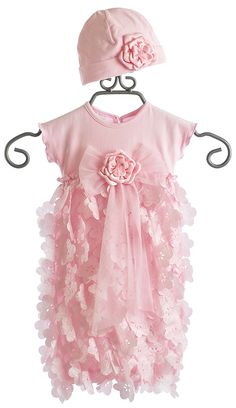 Cach Cach Pink Flutter Baby Sac with Hat - her daddy always said that I LOVED PLAYING DOLLS...!!!