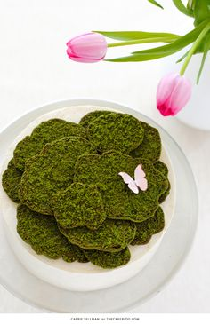 Moss Cake   how to make edible moss from sugar cookie dough   by Carrie Sellman for TheCakeBlog.com