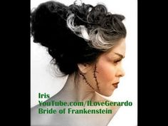 Bride of Frankenstein Hair Tutorial (+playlist) BEST HAIR TUT ON  THE BRIDE OF FRANKENSTEIN HAIR!!!! SHE USES A SODA BOTTLE :)