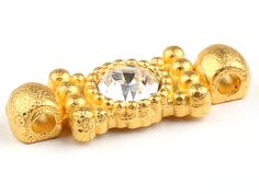 Unusual Rectangular Crystal Connector Gold 1 by ShiShisBoutique, $3.00