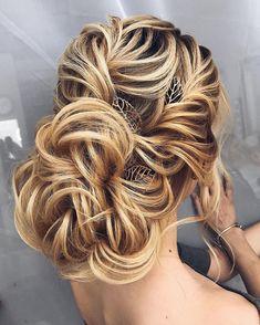 Bridal Hairstyles Inspiration : Gorgeous bridal hairstyles Messy updo Wedding hairstyle | updo hairstyle #messy