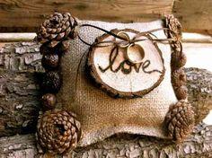 décoration originale avec des pommes de pin