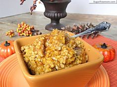 Slow Cooker Overnight Pumpkin Pie Steel Cut Oats: No Sugar Added- your go-to fall breakfast! #fallrecipes #breakfast #pumpkinpie #oatmeal