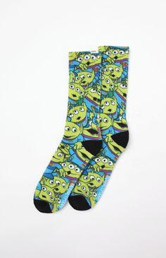 x Disney Toy Story Aliens Crew Socks