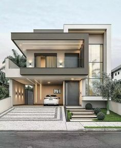 House Outer Design, Best Modern House Design, Modern Villa Design, Modern Exterior House Designs, Bungalow House Design, House Front Design, Dream House Exterior, Exterior Design, Modern House Facades