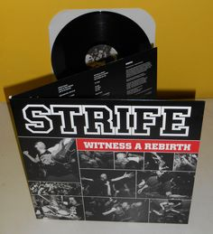 STRIFE witness a rebirth LP Record Vinyl with gatefold cover #punkhardcore