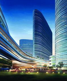 Xuzhou Suning Plaza Proposal / Aedas that is some impressive use of line!