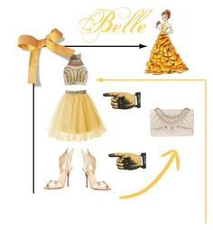 """""""Belle"""" by bebe-lindsss on Polyvore featuring Christian Louboutin and Chanel"""