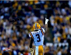 """Odell Beckham Jr. LSU Tigers Autographed 11"""" x 14"""" Point To Crowd Photograph"""