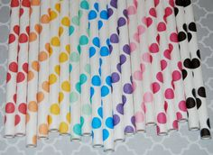 100 assorted mix of polka dot paper drinking by isakayboutique, $16.00