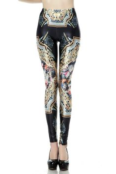 SEXY LADY GALAXY LEGGINGS PRINTED COSMIC SPACE PANTS TIE DYE TIGHTS NEW SUMMER FASHION ROYAL COURT FLOWER JEWELRY PATTERN 3D DIGITAL PRINTING SEXY LEGGINGS FOR WOMEN