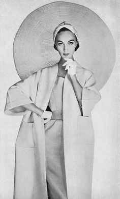 Harper's Bazaar, January 1955. Evelyn Tripp photographed by Louise Dahl Wolfe.