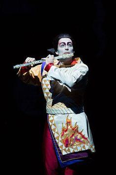 "Alek Shrader as Tamino in the abridged, English-language holiday presentation of Mozart's ""The Magic Flute"" at the Metropolitan Opera."
