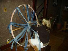 7 Best Wagon Wheel Rugs Images Rug Making Loom
