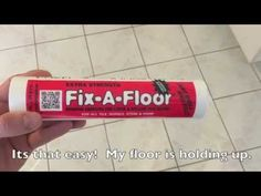 Fix a floor - How To Repair Loose Hollow Tiles - YouTube