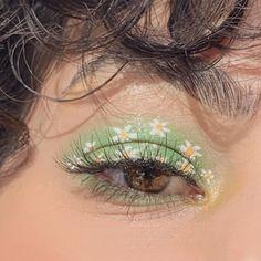 Cute Makeup Looks, Makeup Eye Looks, Eye Makeup Art, Pretty Makeup, Skin Makeup, Eyeshadow Makeup, Green Eyeshadow, Makeup Meme, Makeup Brushes