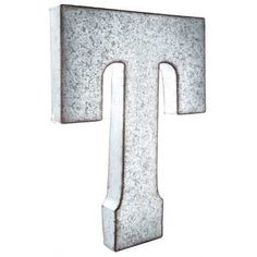 Galvanized Metal Letter Wall Decor T Hobby Lobby 906099 Metal Letter Wall Decor Metal Wall Letters Metal Letters
