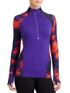 Running Wild Half Zip 2.0 Electro - Dont let its straightforward looks fool you: This run top boasts Unstinkable technology, reflective seams and a perfectly lightweight, layer-able design.