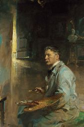 Portrait of the artist Patrick William Adam, R.S.A.   Scottish