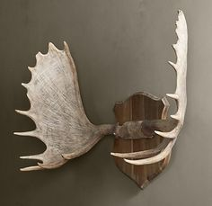Moose Antlers...above a huge stone Fireplace...who wouldnt want these!