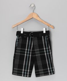 Take a look at this Black Plaid Shorts - Boys by Dickies on #zulily today!