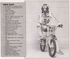 The armament of Mike Buff - 1982