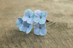 Set of 5 clay flowers pins with handmade by Sweetpinkbox on Etsy, $15.00
