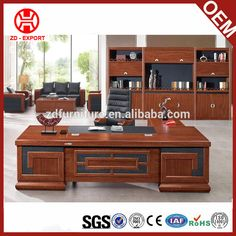 Modern Office Furniture L-shape Curved Executive Desk Photo Detailed about Executive Office Desk, Ceo Office, Curved Desk, Office Table Design, 1970s Decor, Farmhouse Dining Chairs, Luxury Office, Office Furniture, Modern