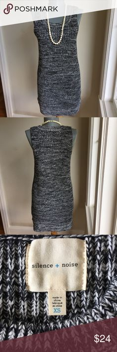 "Urban Outfitters by Silence + Noise Knit Dress. Urban Outfitters by Silence + Noise Shift Gray/Black/White Knit Dress. Size 0.  Flat lay measurements. Between underarms 16 1/4"". Waist area 14"". Hips 17"". Length 31"". Very good condition.  ••••••This is a FIRM PRICE••••••• Urban Outfitters Dresses Mini"