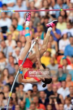 Ling Li of China competes in the Women's pole vault final during Day Four of the 14th IAAF World Athletics Championships Moscow 2013 at Luzhniki Stadium on August 13, 2013 in Moscow, Russia.