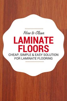 Got laminate floors? Cleaning laminate floors is easy but you have to have the right products and the right tools to get the job done if you don't want your floors to start warping. Here are some tips on how to clean laminate floors. Homemade Laminate Floor Cleaner, How To Clean Laminate Flooring, Hardwood Floor Cleaner, Homemade Toilet Cleaner, Laminate Cleaner, Penny Flooring, Hardwood Floors, Garage Flooring, Slate Flooring