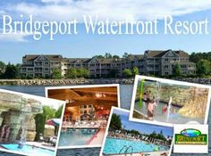 Door County's Bridgeport Waterfront Resort is located in the center of historic Sturgeon Bay. Bridgeport offers spacious one, two and three bedroom suites – with each guestroom featuring a whirlpool, a fireplace and a complete kitchen. On-site recreational amenities include indoor/outdoor heated swimming pools (with a indoor splash park and playground designed for the youngsters), a whirlpool, a sauna, a fitness center and complimentary high speed wireless internet.