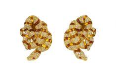 Serpent Earrings Gems, Stud Earrings, Jewelry, Jewlery, Jewerly, Rhinestones, Stud Earring, Schmuck, Jewels