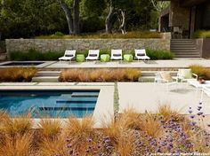 Designs by Sundown is a 2020 Gold List honoree featured in Luxe Interiors + Design. See more of this design professional's projects. Amazing Swimming Pools, Cool Pools, Awesome Pools, Modern Landscaping, Outdoor Landscaping, Pool Fountain, Garden Pool, Outdoor Projects, Outdoor Ideas