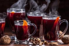 Warm up during the winter with this German Mulled Red Wine recipe that mixes orange, lemon, spices, sugar, and a splash of brandy together.