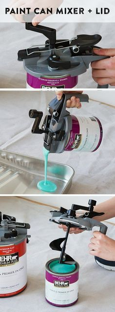 Looking for painting tips?  Painting is easier than ever with this product. Mix, pour, and store with this time- and mess-saving lid. Paint, varnish, or stain stays sealed in, and won't dry out, drip, or spill.